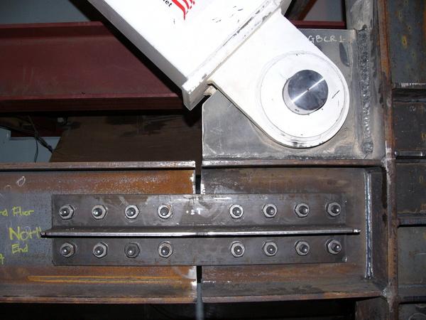 Ground Floor Beam-Column-Brace Connection