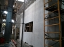 Partially-grouted, reinforced concrete masonry wall